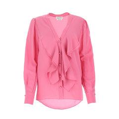 Alexander McQueen/亚历山大麦昆 20年春夏 服装百搭 女性 粉色 女士长袖衬衫 606021QBAAF 5034图片