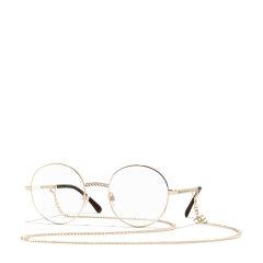 CHANEL/香奈儿周洁琼同款香奈儿眼镜框女时尚复古圆形CH2186带项链条图片