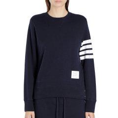 Thom Browne/Thom Browne 21春夏 女装 服装 灰色棉质经典四道杠时尚休闲长袖T恤 女士卫衣图片