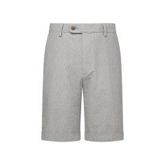 TOMBOLINI/东博利尼男士短裤灰色泡泡纱翻边休闲短裤XCD52048UDRB图片