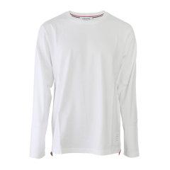Thom Browne/Thom Browne 20春夏 男装 服饰 白色圆领棉质时尚休闲 男士长袖T恤 MJS068A0042图片