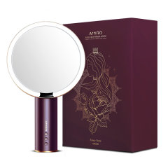 AMIRO化妆镜O系列奢金智能日光镜网红美妆台式桌面led带灯镜子图片