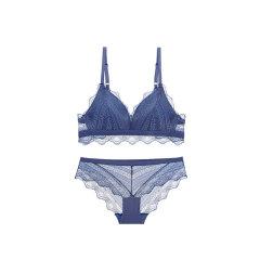 【DesignerWomenwear】Adorre Gaea2020SS性感无钢圈少女三角杯舒适小胸薄款文胸蕾丝内衣套装图片