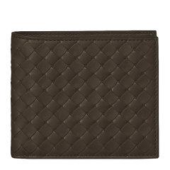Bottega Veneta/葆蝶家 男士牛皮经典编织短款对折钱包钱夹图片