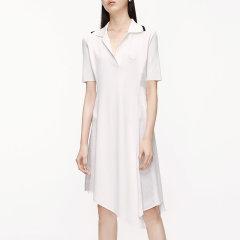 MO&Co./摩安珂女士连衣裙2020夏季新品运动风拼接Polo领连衣裙MBO2DRS002图片