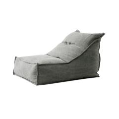 MRLAZY城市山野系列北欧简约亚麻/全棉靠背款懒人沙发图片