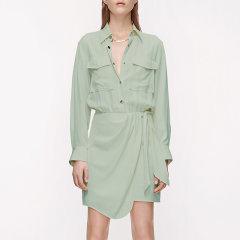 MO&Co./摩安珂女士连衣裙2020夏季新品收腰不规则工装风连衣裙MBO2DRS059图片