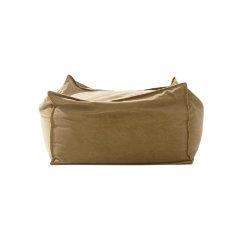 MRLAZY城市山野系列简约田园风金雀黄丝绒方凳款懒人沙发图片