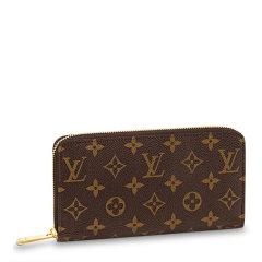 【包税】Louis Vuitton/路易 威登 20春夏 女士咖色皮革经典老花长款钱包图片