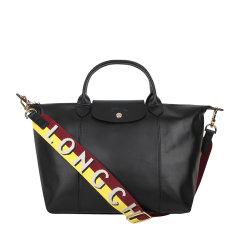 Longchamp/珑骧  女士羊皮中号短柄可折叠手提包宽肩带单肩包斜挎包 1515 863图片