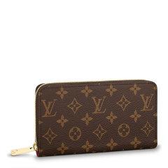 Louis Vuitton/路易 威登 21春夏 女士咖色皮革经典老花长款钱包图片