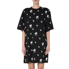 McQ ALEXANDER MCQUEEN【21春夏】新款女士棉质标识图案T恤式连衣裙连衣裙586295 ROH08图片