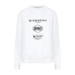 【瑕疵特卖】 Givenchy/纪梵希 白色字母logo印花套头园林卫衣 男女同款卫衣 圆领女卫衣 休闲上装 BW70013Z33图片