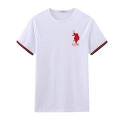U.S.POLO ASSN./U.S.POLO ASSN.美国马球协会20年夏季男拼色短T休闲上衣圆领男士短袖T恤图片