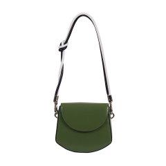 voyagetime/微缇新品 简约纯色清新绿女士牛皮单肩包手提包肩带自选VF5077-400图片