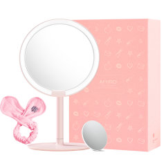 李佳琦推荐 LED化妆镜 赠束发带超清  卧室桌面台式美妆镜 95%日光相似度图片