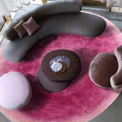 佳布尔艺术地毯光彩系列竹丝简约渐变圆毯图片