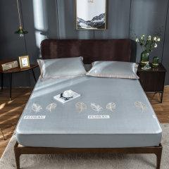 Fantti/芬缇 床上用品提花加厚可水洗机洗床笠式冰丝席夏凉可折叠空调软席床品套件-枫林图片
