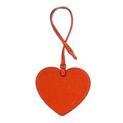 COACH/蔻驰女士专柜款爱心珠光砖红色包包挂饰砖红色皮革图片