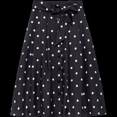 【20春夏新款】100%桑蚕丝 ERDOS/鄂尔多斯 女装 腰带装饰 女士半身裙 波尔卡1980系列图片