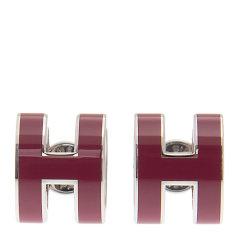 【包邮包税】HERMES 爱马仕 女士金属H字母耳钉耳环图片