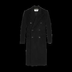 SAINT LAURENT 20春夏女士manteau long à double boutonnage en laine chevrons大衣 588359Y632N1000 一周左右发货图片