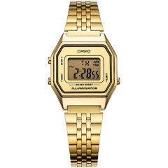 CASIO/卡西欧女表小金表时尚流行电子钢带手表图片