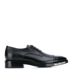 Balenciaga/巴黎世家【20春夏新款】 男士黑色时尚logo标志皮鞋商务鞋男鞋 590716-WA720-1000图片