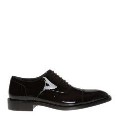 【包邮包税】Balenciaga/巴黎世家【20春夏新款】 男士时尚黑色亮皮商务鞋皮鞋男鞋 562604-WA8M0-1000图片
