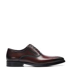 Landax/Landax 新款 布洛克手工皮鞋 男士商务鞋 系带英伦德比鞋 商务正装鞋图片