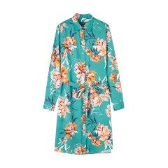 GANT/甘特2020春夏新品牡丹印花长袖衬衫女士连衣裙4503080图片