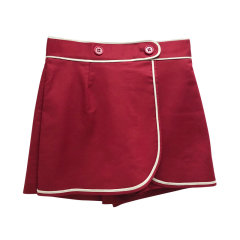 【20春夏新款】Red Valentino 白边装饰拉链半裙裤裙女士短裤 TR3RFC853M7图片