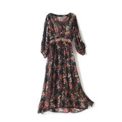 GeleiStory/GeleiStory印花系列连衣裙度假款真丝女装>女士裙装>女士连衣裙店铺特惠图片