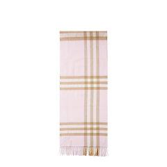 【20秋冬新品】BURBERRY/博柏利  男女款淡粉色羊绒格纹围巾 8016394 DX图片