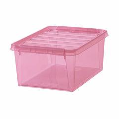 瑞典进口乐高收纳盒  利快SmartStore多功能分类收纳箱儿童玩具透明收纳盒储物盒14升图片