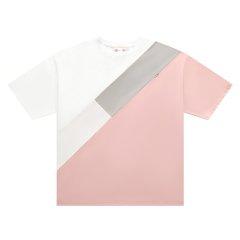 5min/5min火热传奇系列女士短袖T恤三色分割oversized Tee图片