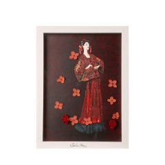 GeleiStory/GeleiStory 西安博物院珍藏艺术系列永生花相框画 情人节礼物 520礼物 送女友 送闺蜜礼物 店铺特惠 限量版图片