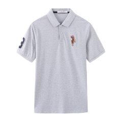 U.S.POLO ASSN./U.S.POLO ASSN.美国马球协会20年男士夏季休闲上衣短袖T恤品牌彩色绣花男士短POLO图片