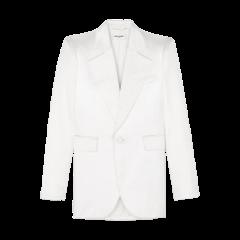 SAINT LAURENT 20春夏女士Oversized-collar classic satin blazer休闲西服 592390Y855V9001 一周左右发货图片