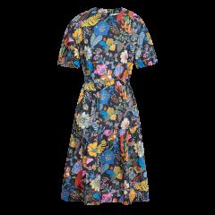 【20春夏新品】ERDOS/鄂尔多斯 女装 纯棉 碎花 系带 中长裙 女士连衣裙 liberty的奇幻世界系列图片