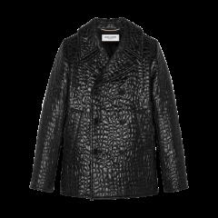 SAINT LAURENT 20春夏女士彩绘鳄鱼纹海军外套夹克 534536Y208O1000 一周左右发货图片