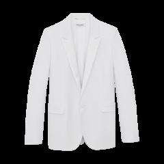 SAINT LAURENT 20春夏女士白色颗粒纹理燕尾服式夹克西服 514631Y512W9935 一周左右发货图片