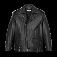 SAINT LAURENT 20春夏女士Oversized motorcycle jacket in aged leather夹克 589446Y5RD21388 一周左右发货图片
