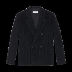SAINT LAURENT 20春夏女士超大号拉丝条纹羊毛羊绒夹克西服 576517Y086T1078 一周左右发货图片