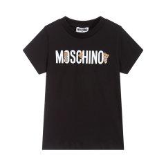 【20春夏新款】MOSCHINO  莫斯奇诺 儿童混纺LOGO印花T恤图片