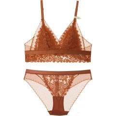 【DesignerWomenwear】Adorre Gaea2020SS经典蕾丝三角杯无钢圈文胸内衣bralette套装图片