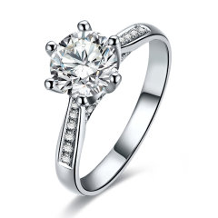 mingzuan/鸣钻国际 注定 钻戒女 PT950铂金白金钻石戒指女 求婚戒指图片
