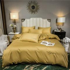 舒适亲肤透气,活性印染工艺,环保健康无异味,多种颜色可以选择 Elegance/雅莉格丝 轻奢全棉贡缎字母款四件套 EHT143图片