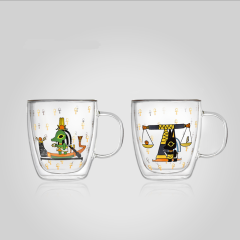 大英博物馆 埃及萌神系列双层把手玻璃杯水杯图片