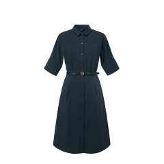 【商场同款】HAZZYS/哈吉斯 2020夏季新款女士连衣裙纯色修身简约连衣裙AQWSC00BC27图片